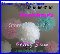 "14""(35CM)Pom Poms Ball-Spring Pink Tissue Paper Pom Poms Flower-More Colors Available-Weddings- Birthday-Decorations-Baby Shower"