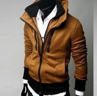 New 2014 Novetly Double Collar Spring Men Jackets Coats/Desigual Zipper Cotton Jackets For Men/Casual Men Clothing