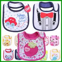 2014 Hot Sale Cotton Baby Bib Infant Saliva Towels Baby Waterproof Bib Cartoon Baby Wear With Different Model free shipping WZ13