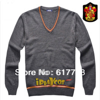 harry potter knitted gryffindor School uniform autumn long sleeves V-neck sweater gift