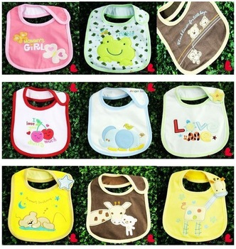 Free shipping baby 5pcs/lot  Baby bibs Infant saliva towels carter's Baby Waterproof bibs Mark Carter Baby wear
