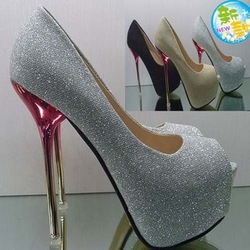 Drop Shipping hot selling lady's Sexy High Heels Peep Toe sweetness High Heels Pumps Wedding sandals Shoes Eur Size 34-43 304(China (Mainland))