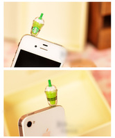 Starbucks coffee cup Anti Dust Earphone Plug Headset Stopper Cap for iphone 4 4S for iphone 5 for Samsung phone accessories