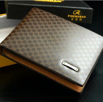 Classical Men's PU Leather The Look Wallet Pockets Card Collector Bifold Purse
