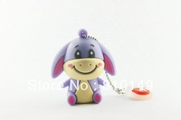 Lovely donkey shape usb flash drive  usb flash memory 4GB 8GB 16GB 32GB free shipping