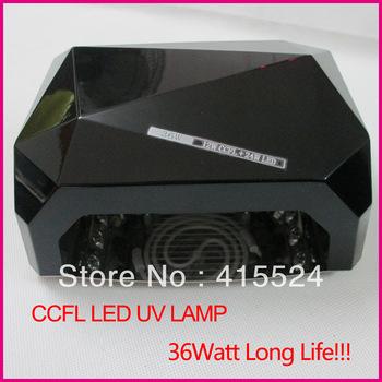 Black Color 2013 New Long Life Diamond CCFL LED UV Lamp 36W Nail UV LED Nail Lamp Free Shipping