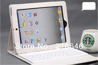 Protective PU Leather bag for iPad Mini iPad 4 iPad 2,3+wireless bluetooth keyboard