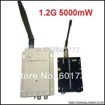 5W ,original made in Taiwan,1.2G Wireless transceiver,1.2G Video Audio Transmitter+Receiver,1.2G wireless video transmitter