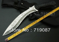 High Quality Kiku Machete  Hunting Knife,7Cr17 Blade G10 Handle Survival Knife,Outdoor Knives,Camping Knife Tools, 1 Piece