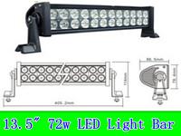 """truck lights 72W 1.5"""" off road light bars,LED lighting OFF ROAD LED light, LED WORK LIGHT"""