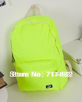 The new Both men and women Fluorescent color Backpack Students in school bag Han edition College of the wind Nylon