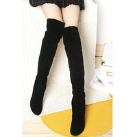 2014 New Fashion Faux Suede Women Boots/Brand Over The Knee High Winter Boots For Women/Casual Plus Size Women Shoes
