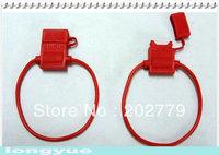 longyue 20pcs fuse flake socket, fuse holder  connector plug rubber 20cm wire