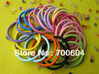 200pcs/lot, High Quality 3mm Baby Girl Kids Hair Elastic Bands/Ties/Rope/Accessories, Mixed colors Factory Supply,