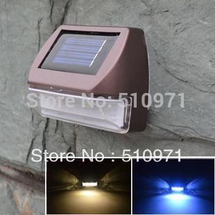 2013 nuovo, 2 led montaggio a parete esterno luce solare alimentato, solare lampada da parete, 2pcs/lot