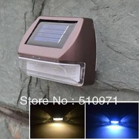 2013 NEW , 2 LED Wall Mount Outdoor Powered Solar Light, solar wall lamp, 2pcs/lot