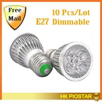 10PCS/Lot  E27 Led Spotlight AC85~265V Dimmable White/Warm white LED Light Bulb Lamps Led Cup Light Free Shipping
