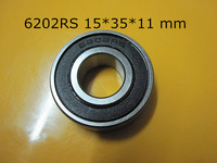 Free shipping   6202 6202RS  15*35*11mm chrome steel  deep groove bearing