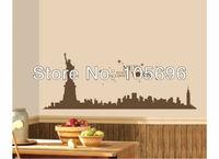 NEW 40*100cm Home stickers Wall decor Art Decals PVC Vinyl Murals NEW YORK Statue of Liberty ZZ343
