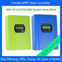 To Asia  60A 12v 24v 48v Solar controller MPPT solar charge controller