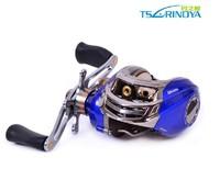 Trulinoya Right Hand DW1000 Blue Baitcasting Fishing Reel 10+1BB Low Profile Baitcaster