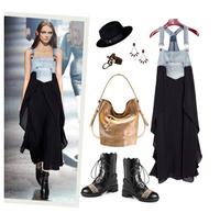 2014  New Fashion Designer Denim Long Jeans Skirt For Lady,Women Dress D01