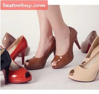 High heel shoes,wedding shoes party style fish mouth,super brand fashion dress shoes sexy style for lady.Hot sale!Free shipping!
