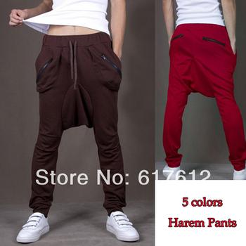 New 2013 Free Shipping Men's Women Harem Pants Athletic Casual Sport Pants Hip Hops Dance Trousers Slacks Joggers SweatPants