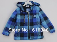 autumn -summer Children outerwear boy new 2013 Plaid jacket baby boy children's jackets baby clothing boys clothes blazer Retail