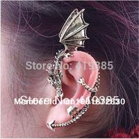 New Arrive Punk Vintage Flying Dragon Ear Cuff Earrings Ear Clip For Women Free Shipping 24pcs/lot 0326036