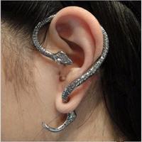 24pcs/lot Hot Sale Vintage Punk Snake Ear Cuff Earrings For Women Free Shipping 0326027