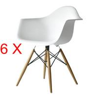 6 X Eames DAW Armchair