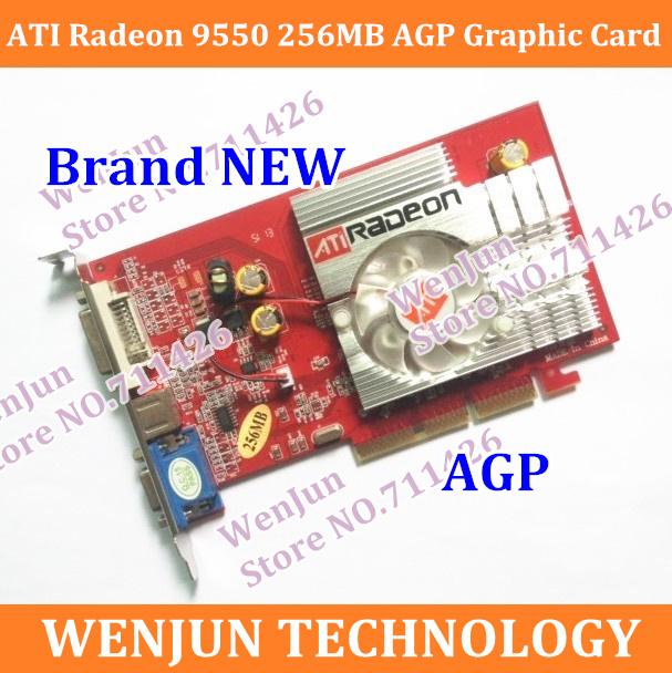 Free Shipping 100% NEW ATI Radeon 9550 256MB 128BIT DDR2 S-Video VGA DVI AGP 4x 8x video Card Free Shipping(China (Mainland))