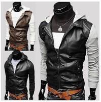 Man Jacket Winter Male Down Leather Motorcycle Jacket Men Jaquetas De Couro Para Fur Coat Motociclista Down-Jacket Clothing