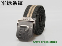 Free shipping Mens Canvas Belts thickening Male leisure belt Black leather belt have 110cm and 120cm