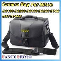 Free Shipping DLSR SLR Camera Bag for Nikon D3100 D3200 D5100 D7000 D90 shoulder bag + Rain Cover