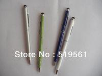 50pcs/lot Hotsell 2 In 1 Stylus Pen Ball Pen, High Sensitive Touch Pen Handy Pen For Phone Tablet PC HongKong Post Free Shipping
