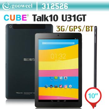 CUBE TALK10 U31GT Tablet PC MTK8382 Quad Core 10.1 Inch Android 4.4 IPS 16GB Blue MID GPS WIFI