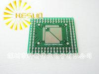 FREE SHIPPING 20PCS QFP/FQFP/LQFP TQFP32 / TQFP44 / TQFP64 / TQFP80  TQFP100 0.5MM 0.8MM IC adapter Socket / Adapter plate / PCB