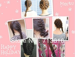 New!freeshippig centipede braid of hair fashion new handmade easy hair braider /hair styling tool(Min order$10.mix order)(China (Mainland))