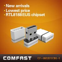 Free drop shipping white Wlan high quality  wifi access point Comfast  CF-WU810N-1 wifi chipset RTL 8188EUS wireless wifi dongle