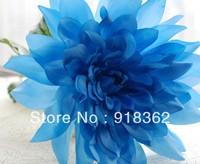 Spring!Good Quality!Free Shipping(6pcs/Lot),Long Branch Single Matt Silk Roral Artificial Dahlia Flower,6Colors can Mix Per Lot