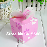 2014 Hot Sale Seconds Kill Pink Favor Wedding Essential / Sugar Bags of Candy Box Beautifully Box-pink Light Purple Cherry