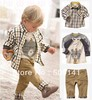 Retail, Free shipping,2013 New arrival,Boys Shirts + Short Pant 3pcs/Set, Boys Summer 3pcs Suits
