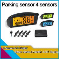 new stytle!4 sensors car parking sensor with colorful LED display,car parking system ,70 colors for option