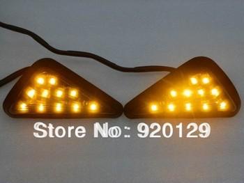 Clear Flush Mount LED Turn Signals Light for Kawasaki Ninja ZX9R ZX6R ZX7R