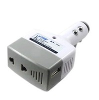 qc023 Free shopping 1pcs car inverter power converters,mobile phone charger with USB port 12v / 24v to 220v / 500mA/ 5W inverter