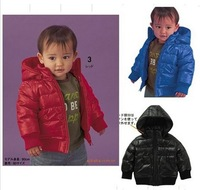 In stock, 1 pcs Retail, baby children outerwear, girl boy warm fashion coat, Child boys jacket winter, red, black, kids wear