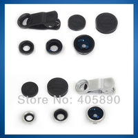 3 In 1 Universal Clip Mobile Phone Lens for iphone n7100 HTC Samsung Fish Eye + Macro + Wide Angle