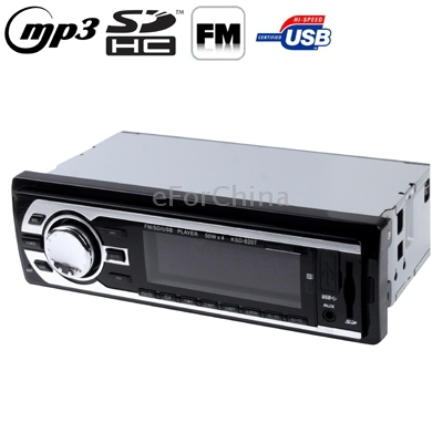 4 x 50W LCD Car Audio MP3 Player with Remote Control, FM Radio Function, Support SD / USB Flash Disk, DC 12V(China (Mainland))